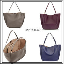 Jimmy Choo A4 Plain Leather Office Style Totes