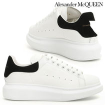 alexander mcqueen Round Toe Rubber Sole Casual Style Plain Leather