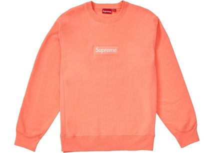 Supreme Sweatshirts Crew Neck Unisex Sweat Long Sleeves Plain Sweatshirts 6