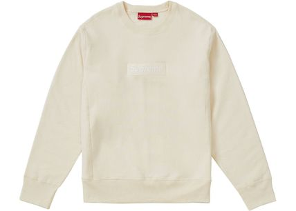 Supreme Sweatshirts Crew Neck Unisex Sweat Long Sleeves Plain Sweatshirts 8