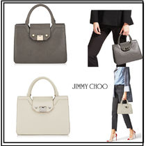 Jimmy Choo Plain Leather Office Style Totes