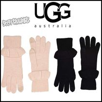 UGG Australia Plain Khaki Smartphone Use Gloves