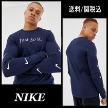 Nike Crew Neck Pullovers Long Sleeves Cotton Long Sleeve T-Shirts