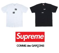 Supreme Unisex Street Style Collaboration Plain Cotton Short Sleeves