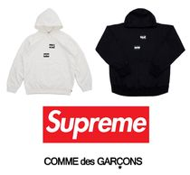 Supreme Unisex Collaboration Long Sleeves Plain Hoodies