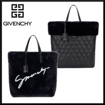 GIVENCHY Faux Fur Blended Fabrics 2WAY Totes