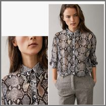 Massimo Dutti Casual Style Long Sleeves Python Shirts & Blouses