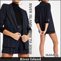 River Island Stripes Casual Style Medium Jackets