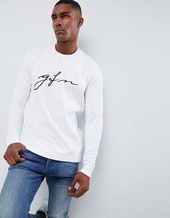 GOOD FOR NOTHING Sweatshirts Crew Neck Unisex Sweat Street Style Long Sleeves Plain 4