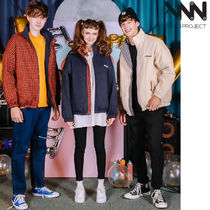WV PROJECT Gingham Unisex Street Style Collaboration Plain Jackets