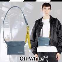 Off-White Denim Street Style Messenger & Shoulder Bags