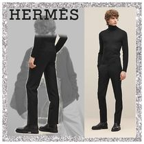 HERMES Wool Plain Joggers & Sweatpants
