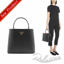 PRADA DOUBLE Saffiano 2WAY Plain Elegant Style Handbags
