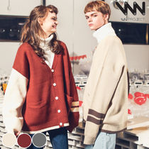 WV PROJECT Unisex Street Style Collaboration Plain Cardigans