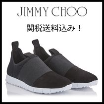 Jimmy Choo Unisex Street Style Bi-color Plain Leather