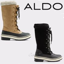 ALDO Mountain Boots Round Toe Casual Style Unisex Blended Fabrics