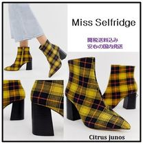 Miss Selfridge Other Check Patterns Casual Style Block Heels