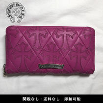 CHROME HEARTS CEMETERY CROSS Street Style Leather Long Wallets