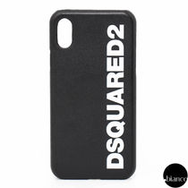 D SQUARED2 Unisex Street Style Bi-color Leather Smart Phone Cases