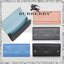 Burberry Calfskin Long Wallets