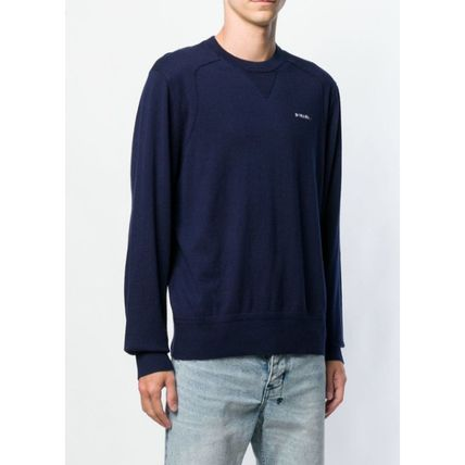 DIESEL Sweatshirts Crew Neck Street Style Long Sleeves Plain Cotton Sweatshirts 3