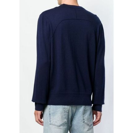 DIESEL Sweatshirts Crew Neck Street Style Long Sleeves Plain Cotton Sweatshirts 4
