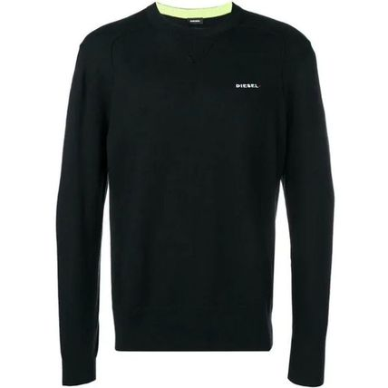 DIESEL Sweatshirts Crew Neck Street Style Long Sleeves Plain Cotton Sweatshirts 6