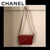 CHANEL Unisex 2WAY Chain Plain Elegant Style Shoulder Bags