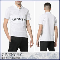 GIVENCHY Pullovers Henry Neck Cotton Short Sleeves Henley T-Shirts