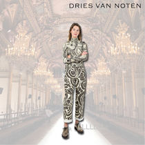 Dries Van Noten Tropical Patterns Cotton Long Elegant Style