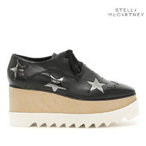 Stella McCartney Star Rubber Sole Lace-up Casual Style Faux Fur