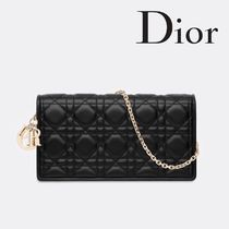 Christian Dior Lambskin 2WAY Chain Home Party Ideas Elegant Style Clutches