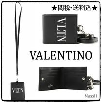VALENTINO Calfskin Plain Wallets & Small Goods