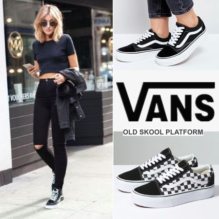 a204d064dfb407 VANS OLD SKOOL Platform Casual Style Unisex Suede Street Style by  HAPPYEARTH - BUYMA