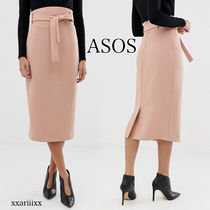 ASOS Pencil Skirts Blended Fabrics Plain Medium Midi