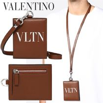 VALENTINO Unisex Calfskin Studded Coin Cases