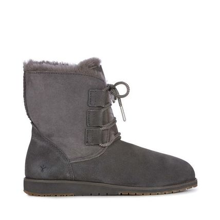 Round Toe Casual Style Fur Plain Ankle & Booties Boots