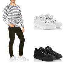 Jimmy Choo Star Blended Fabrics Studded Leather Sneakers