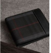 Burberry Other Check Patterns Folding Wallets