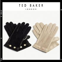 TED BAKER Studded Plain Leather Leather & Faux Leather Gloves