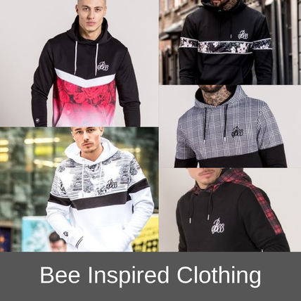 Bee Inspired Clothing Hoodies Other Check Patterns Flower Patterns Street Style