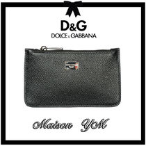 Dolce & Gabbana Plain Leather Coin Cases