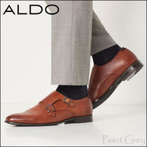 ALDO Straight Tip Monk Plain Leather Loafers & Slip-ons