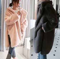 Faux Fur Bi-color Plain Long Home Party Ideas Fur Vests