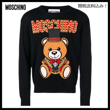 Crew Neck Pullovers Long Sleeves Other Animal Patterns
