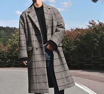 Other Check Patterns Long Oversized Chester Coats