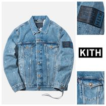 KITH NYC Unisex Denim Tassel Collaboration Denim Jackets Jackets