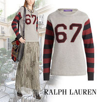 Ralph Lauren Cable Knit Casual Style Cashmere Long Sleeves Medium