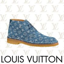 Louis Vuitton Monogram Plain Toe Chukkas Boots