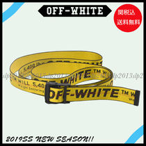 Off-White Unisex Blended Fabrics Cotton Belts
